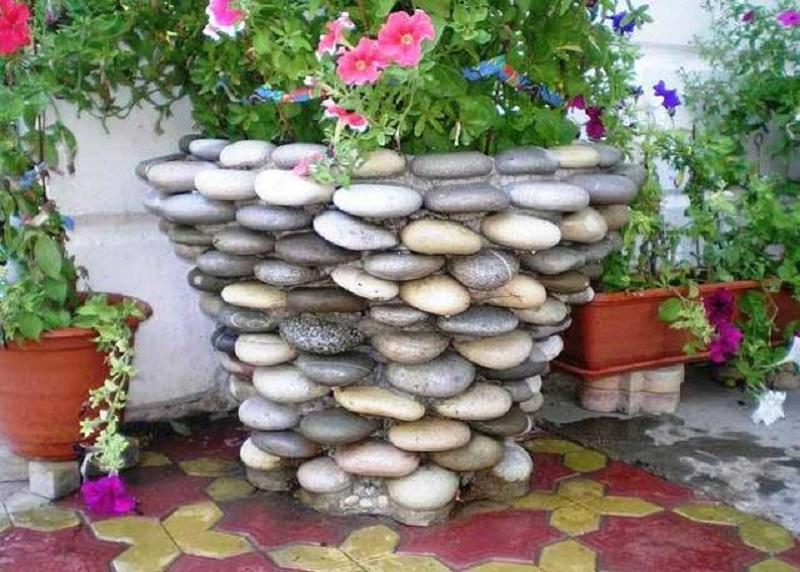 Клумбы из мелких камней своими руками
