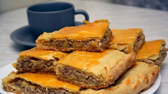 Рецепт пирог с мясом с картошкой в духовке рецепт с пошагово в
