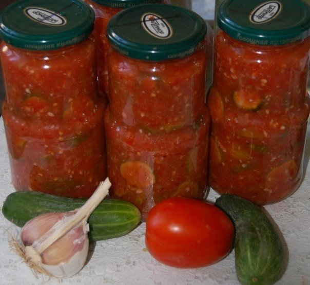 салаты на зиму из свежих огурцов рецепты с фото