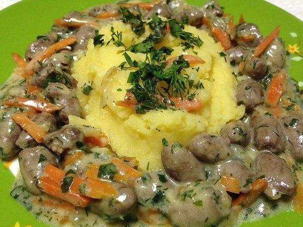 Куриные сердечки рецепт тушеные с картошкой
